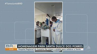Devotos celebram Dia de Santa Dulce dos Pobres em Salvador - Data litúrgica da santa foi escolhida para o dia 13 de agosto, porque foi m 13 de agosto de 1933 que ela se tornou freira.
