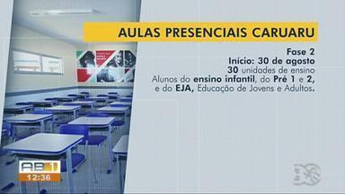 Aulas das escolas municipais de Caruaru voltam de forma gradual. - Primeira turma retornará a partir de segunda-feira (16).