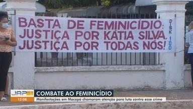 Ato em cemitério de Macapá lembra vítimas de feminicídio e clama por Justiça - Manifestação alertou ainda para o combate a esse tipo de crime.
