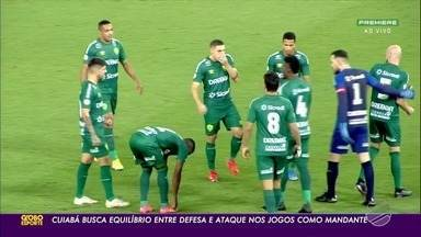 Cuiabá ainda busca equilíbrio entre a defesa e o ataque, principalmente nos jogos na Arena - Cuiabá ainda busca equilíbrio entre a defesa e o ataque, principalmente nos jogos na Arena Pantanal.