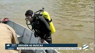 Corpo de criança é encontrado no rio Paraguai - Mergulhadores continuam buscas a outra criança desaparecida