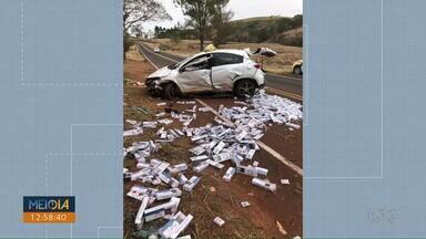 Motorista tenta fugir da polícia e sofre acidente na PR-429 - Na PR-340, um motorista morreu após bater contra caminhão estacionado. Em Rolândia, outra pessoa morreu ao bater na traseira de um caminhão de coleta de lixo.