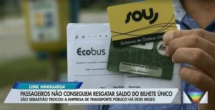 Passageiros não conseguem resgatar saldo do bilhete único em São Sebastião - São Sebastião trocou a empresa de transporte público há dois meses