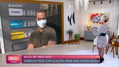 Fabrício Battaglini brinca com Ana Maria sobre Thiago Oliveira - Confira