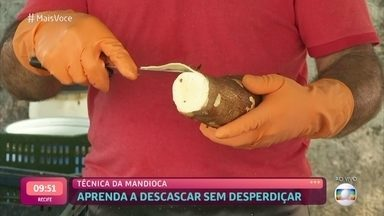 'Feed da Ana': Veja dicas para descascar mandioca - Confira