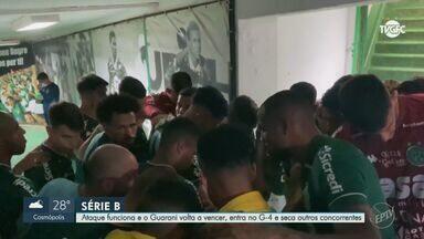 Guarani vence, entra no G-4 da Série B, e seca adversários - Bugre interrompe sequência de três jogos sem vitória.