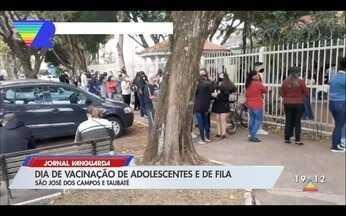 Terça-feira foi de vacinação de adolescentes e de fila em São José dos Campos e Taubaté - Confira a reportagem exibida pelo Jornal Vanguarda.
