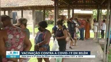 Em Belém, nascidos entre 1971 E 1974 recebem a 2ª dose da vacina contra Covid-19 - De acordo com a Secretaria Municipal de Saúde (Sesma) foram vacinados 17.727 pessoas nesta terça-feira, em Belém.
