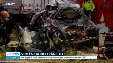 Em Manaus, 162 pessoas morreram em acidentes de trânsito em 2021 - Em Manaus, 162 pessoas morreram em acidentes de trânsito em 2021