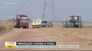 Bombeiros e fazendeiros se unem para evitar incêndios em zonas rurais de Goiás - Estado registra milhares de queimadas em tempo seco.