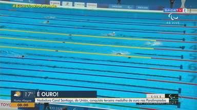 Carol Santiago conquista 3º ouro nos Jogos Paralímpicos de Tóquio - Medalha veio nos 100 m peito da classe SB12.