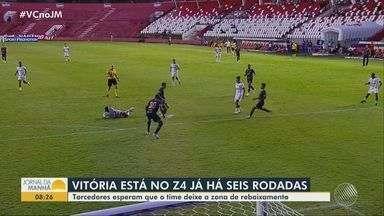 Futebol: Vitória segue na zona de rebaixamento há seis rodadas - Confira.