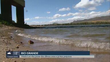 Nível do Rio Grande é um dos piores dos últimos anos e já traz prejuízos - Nível do Rio Grande é um dos piores dos últimos anos e já traz prejuízos