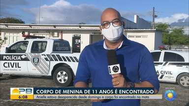 Corpo de menina de 11 anos, que estava desaparecida, foi localizado em mata, na capital - Corpo da adolescente Anielle Teixeira, de 11 anos, foi encontrado sem vida, na mata do bairro Miramar, em João Pessoa.