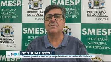 Decreto permite presença de público nos estádios de Goiânia - Veja também que pela Série B, Vila Nova enfrenta o Náutico nesta sexta-feira.