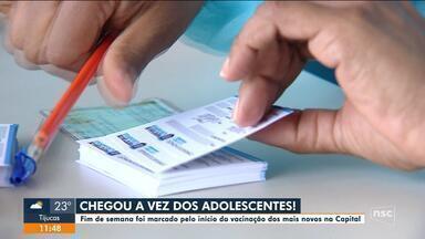 Florianópolis dá início a vacinação dos adolescentes contra a Covid-19 - Florianópolis dá início a vacinação dos adolescentes contra a Covid-19