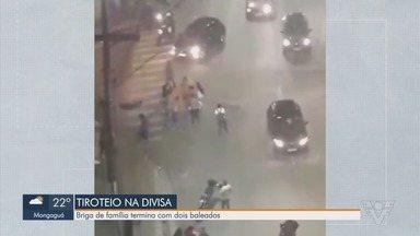 Briga em São Vicente termina com dois homens baleados - Caso aconteceu na noite deste domingo (12) e autor dos tiros é parente das vítimas.
