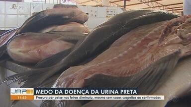 Medo da doença da urina preta impacta nas vendas de pescados em Macapá - Medo da doença da urina preta impacta nas vendas de pescados em Macapá