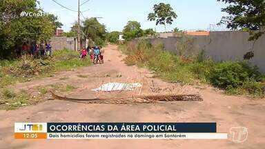Dois homicídios são registrados em Santarém no domingo, 13 - Casos estão sendo investigados pela Polícia Civil.