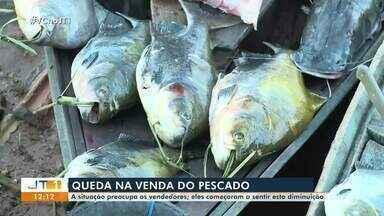 Vendedores de peixes registram queda nas vendas em Santarém - Na manhã desta segunda, 13, não houve movimentação de clientes na Feira do Pescado. População teme a ocorrência de casos da Síndrome de Haff.