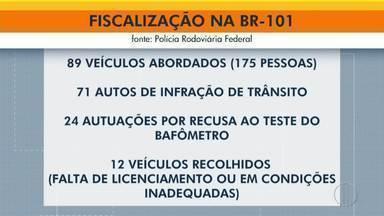Operação Lei Seca em Campos emite 71 autos de infração e recolhe 12 veículos - Também foram emitidas 24 autuações por recusa ao teste do bafômetro.
