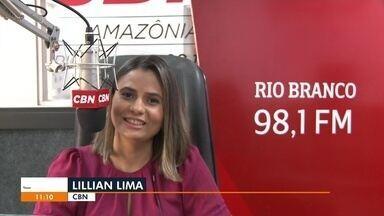 Lillian Lima fala sobre as principais notícias da CBN Rio Branco nesta segunda-feira (13) - Lillian Lima fala sobre as principais notícias da CBN Rio Branco nesta segunda-feira (13)
