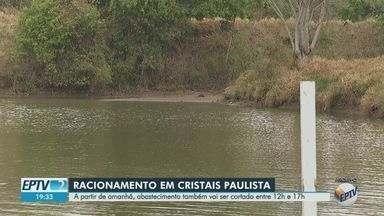 Racionamento de água começa a valer a partir de terça-feira (14) em Cristais Paulista, SP - Abastecimento será cortado entre 12h e 17h e das 21h às 8h.