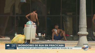 Censo aponta que 234 pessoas vivem em situação de rua em Piracicaba - Dados foram apresentados pela prefeitura da cidade nesta segunda-feira (13).