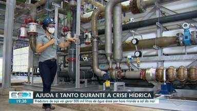 Produtora de aço vai gerar 500 mil litros de água doce por hora tirando o sal do mar - Assista.