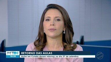 Aulas na rede municipal em Cuiabá serão retomadas de forma híbrida em 27 de setembro - Aulas na rede municipal em Cuiabá serão retomadas de forma híbrida em 27 de setembro.