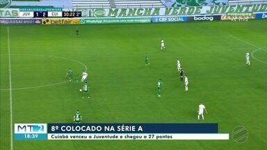 Cuiabá chega à 8ª colocação no Campeonato Brasileiro - Cuiabá chega à 8ª colocação no Campeonato Brasileiro.