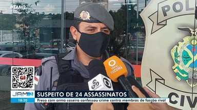 Preso com arma caseira confessa ter participado de 24 assassinatos em Manaus - Preso com arma caseira confessa ter participado de 24 assassinatos em Manaus