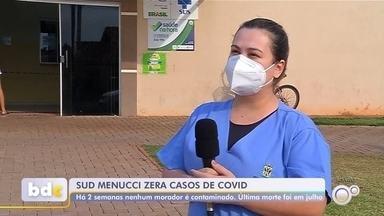 Sud Menucci zera números de casos e mortes por Covid-19 - O município de Sud Menucci (SP) está há duas semanas sem contaminação por Covid-19 e há mais de dois meses sem registrar mortes pela doença.
