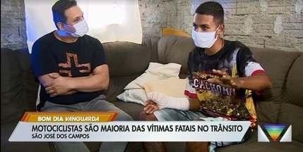 Motociclistas são maioria entre vítimas fatais no trânsito de São José - Assista a reportagem exibida no Bom Dia Vanguarda