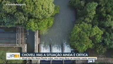 Nível do Rio Meia Ponte sobe após chuvas isoladas na região Metropolitana de Goiânia - Vazão está em pouco mais de 3 mil litros por segundo.