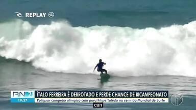 Potiguar Ítalo Ferreira perde a chance de conquistar o bicampeonato mundial de surfe - Potiguar Ítalo Ferreira perde a chance de conquistar o bicampeonato mundial de surfe
