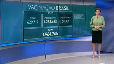 Veja os números da pandemia desta terça-feira - Vacinação avança e médias de mortes e casos seguem em queda no país.