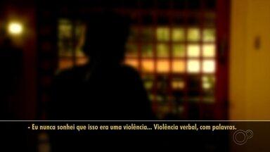 """Guararapes adota programa 'Sinal Vermelho' contra a violência doméstica - O município de Guararapes (SP) adotou o programa """"Sinal Vermelho"""" para ajudar mulheres vítimas de violência doméstica; entenda na reportagem."""