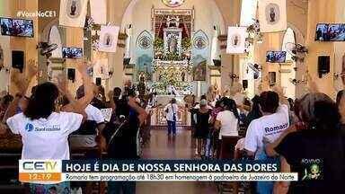 Fiéis celebram na basílica padroeira de Juazeiro do Norte - Saiba mais em g1.com.br/ce