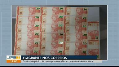 Homem é preso em agência dos Correios por circulação de moeda falsa - A prisão em flagrante quando foi receber a encomenda ilegal