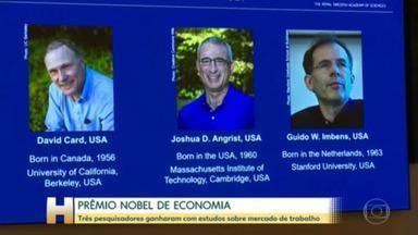 David Card, Joshua Angrist e Guido Imbens ganham Nobel de Economia 2021 - Pesquisadores fizeram estudos para entender os efeitos de salário mínimo, imigração e educação no mercado de trabalho.
