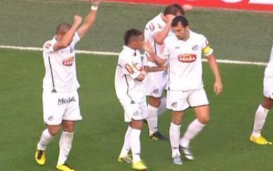 O gol de Santos 1 x 0 São Paulo pelo clássico do dia 25 de julho de 2010