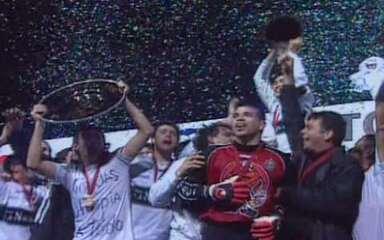 Em 2002, São Caetano perde por 2 a 1 para o Olimpia e fica com o vice da Libertadores