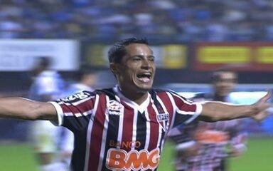 Gol do São Paulo! Cícero recebe na área e toca por cima do goleiro, aos 24 do 2º tempo