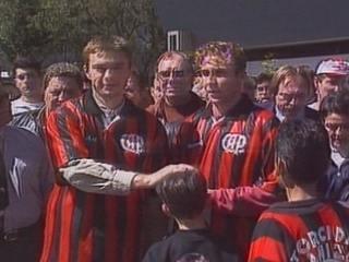 Em 1996, Atlético-PR apresenta Novak e Piekarski