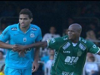 Primeiro jogo: Guarani 0 x 3 Santos