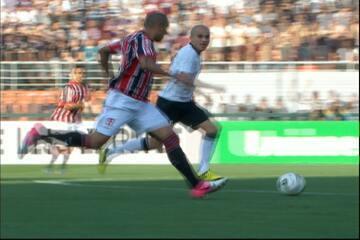 São Paulo vence Corinthians de virada com dois gols de Luís Fabiano