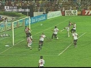 Em 2007, Náutico vence São Paulo por 1 a 0 pelo Campeonato Brasileiro