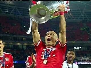 Em 2013, Robben marca no fim e dá título da Champions ao Bayern de Munique