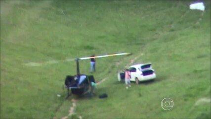 Helicóptero foi apreendido com cocaína ao pousar em Afonso Cláudio no dia 24 de novembro de 2013